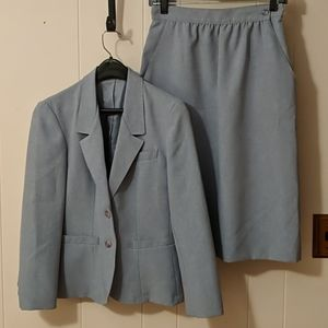Vintage Sears 2pc periwinkle skirt suit set Small
